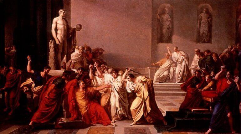 La morte di Cesare, quadro di Vincenzo Camuccini