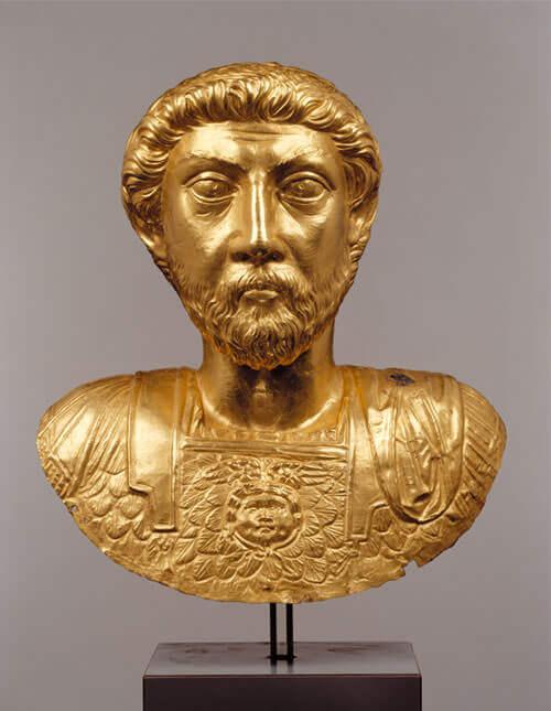 Marco Aurelio - Busto d'oro