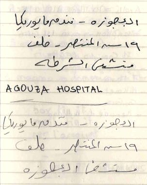 Meglio farsi scrivere la destinazione in arabo