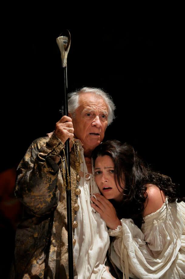 """Giorgio Albertazzi ne """"La tempesta"""" di Shakespeare"""