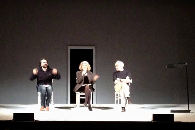 Eva Cantarella al Piccolo Teatro Grassi di Milano con Toni Servillo e Mimmo Borrelli