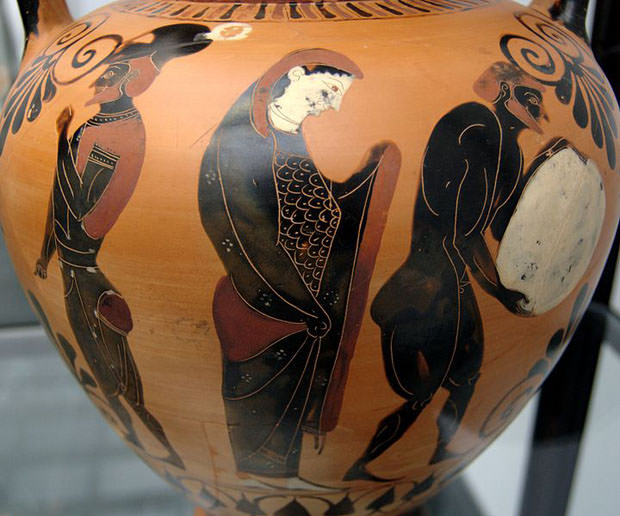 Illustrazione di Aiace, Persefone e Sisifo nell'Ade