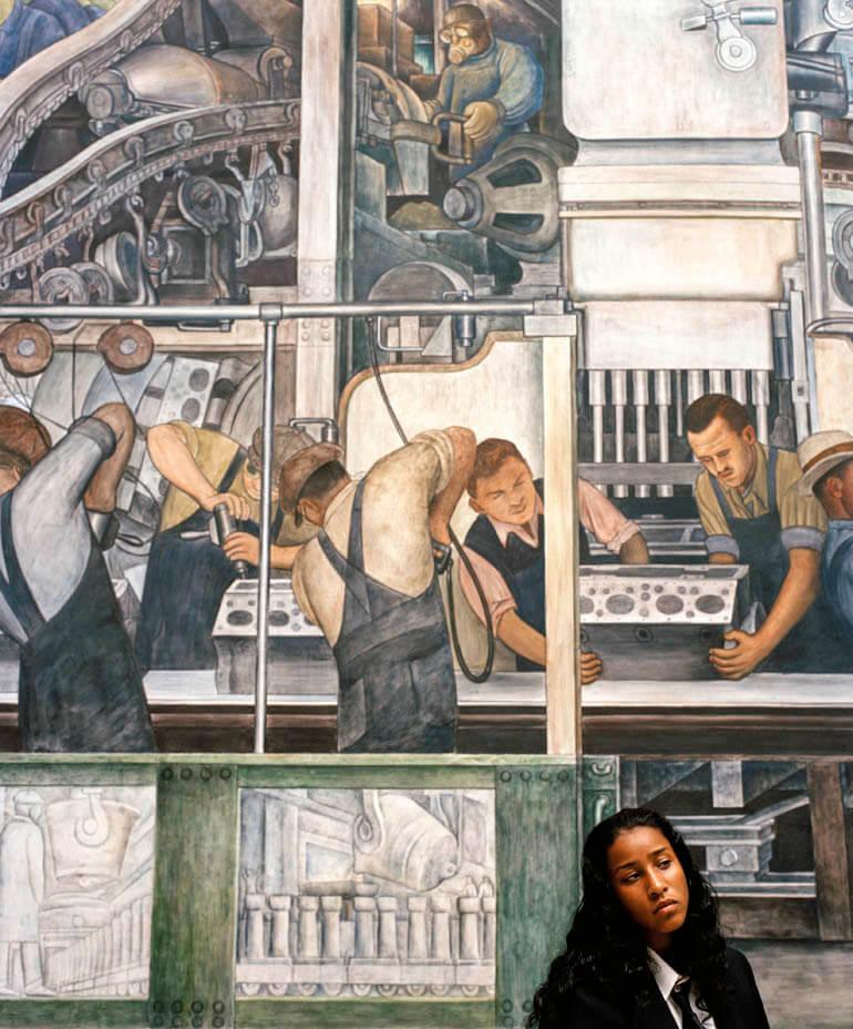 image-202Aungelique Patton-James in Rivera Court, Detroit Institute of Arts, Detroit 2006