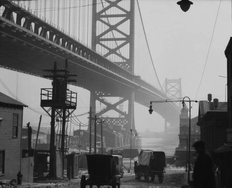 Delaware Bridge, Philadelphia, Pennsylvania, USA, 1926
