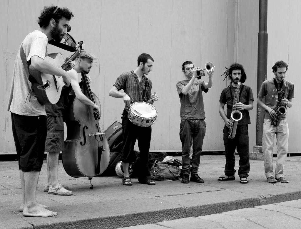 I musicisti della band Jazz - Figli di pulcinella