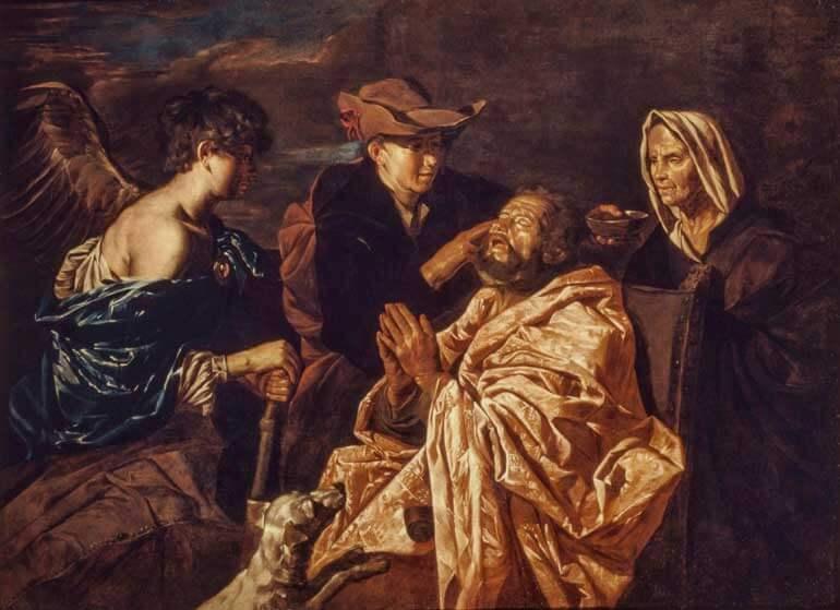 Matthias-Stomer,-Tobiolo-che-cura-suo-padre,1642-ca.,olio-su-tela,-cm-150x200