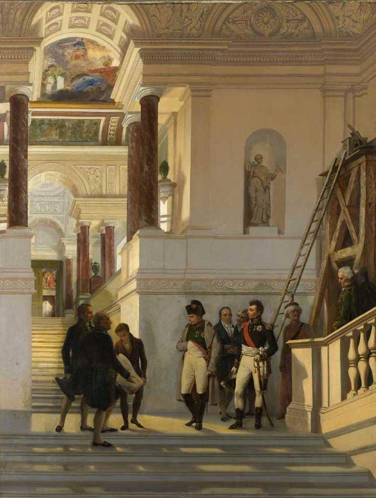 Napoleone visita il Museo del Louvre