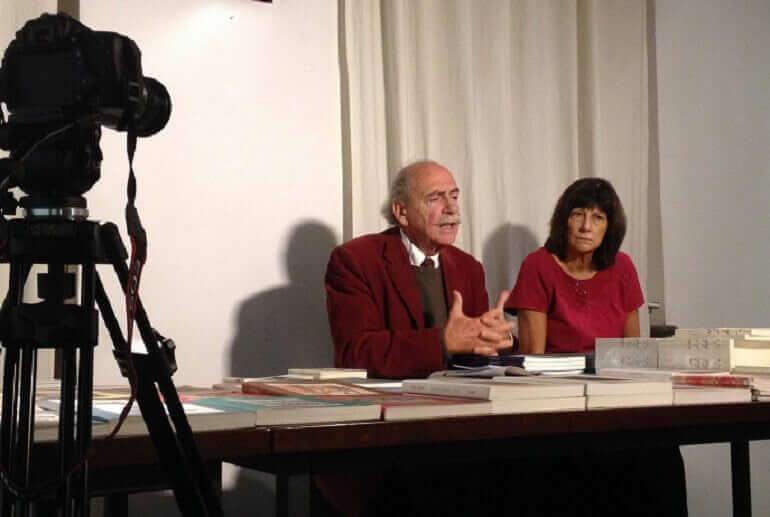 Ugo La Pietra e Cristina Taverna a Nuages