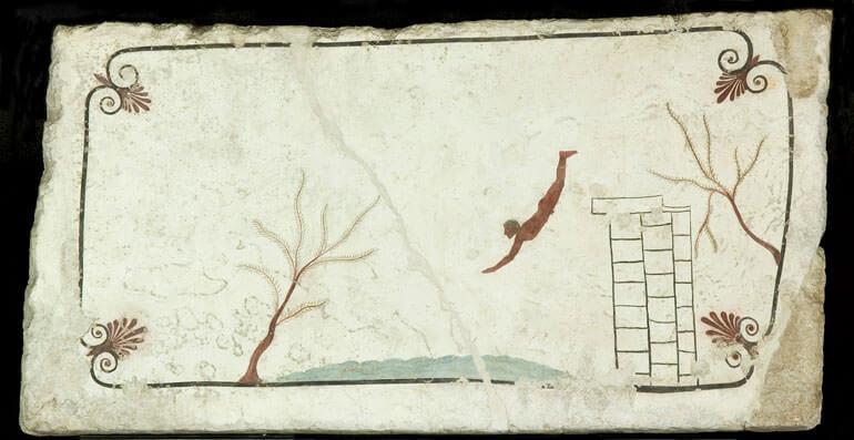 L'affresco della Tomba del Tuffatore