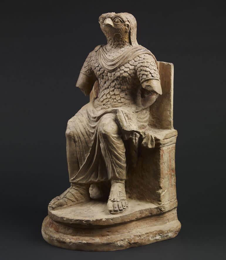 Statuetta di Horus in veste militare romana