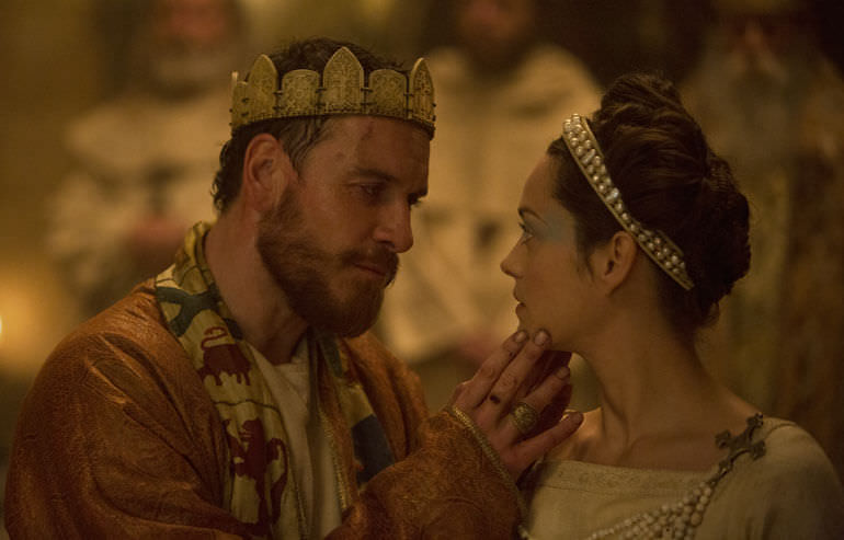 Michael Fassbender e Marion Cotillard in Macbeth