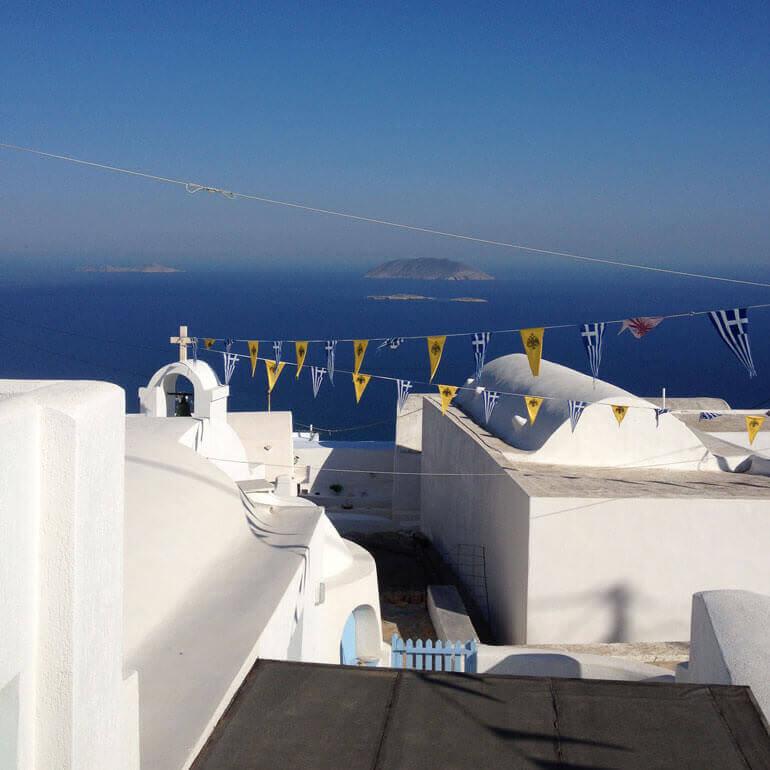 Panorama dalla Chora dell'isola greca di Anafi