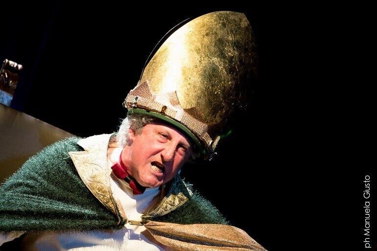 Eugenio Allegri interpreta Laio nello spettacolo Edipus