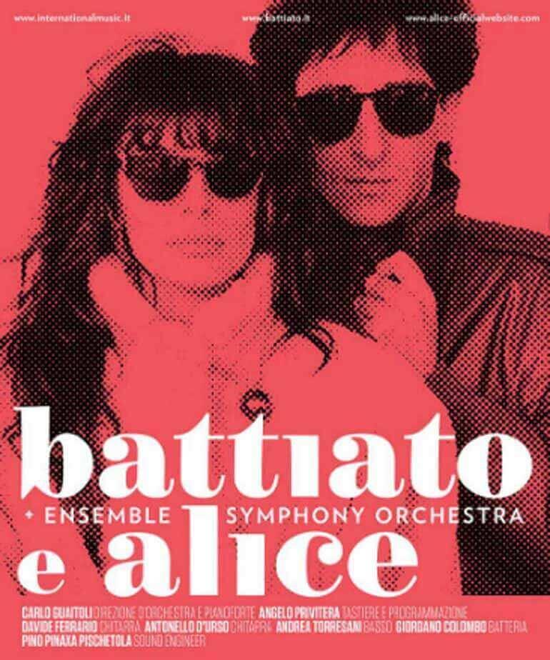 La locandina del concerto di Battiato e Alice a Milano
