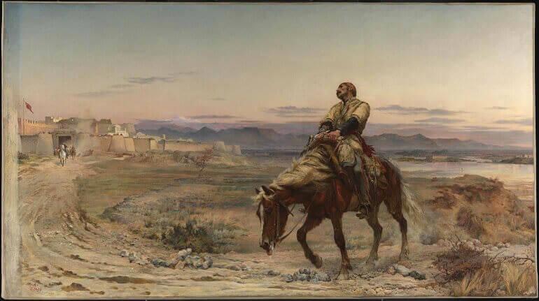 """""""I resti di un esercito"""", tela di Lady Butler"""