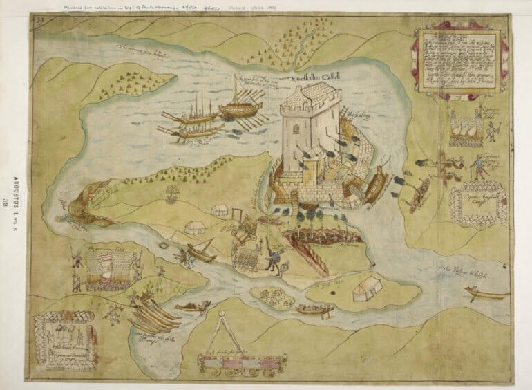The Siege of Enniskillen Castle, di John Thomas