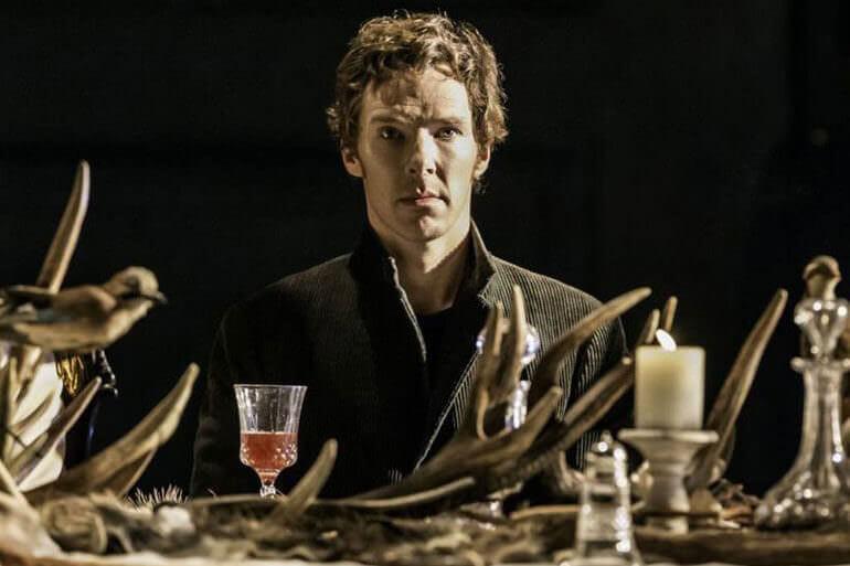 Benedict Cumberbatch nel ruolo di Amleto