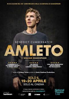 La locandina dello spettacolo Amleto con Benedict Cumberbatch