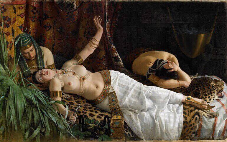 La morte di Cleopatra, quadro di Achille Glisenti