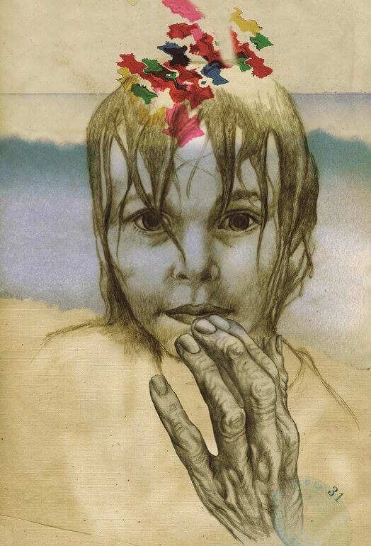 Un'illustrazione di Federico Delicado per il libro Itaca di Kavafis