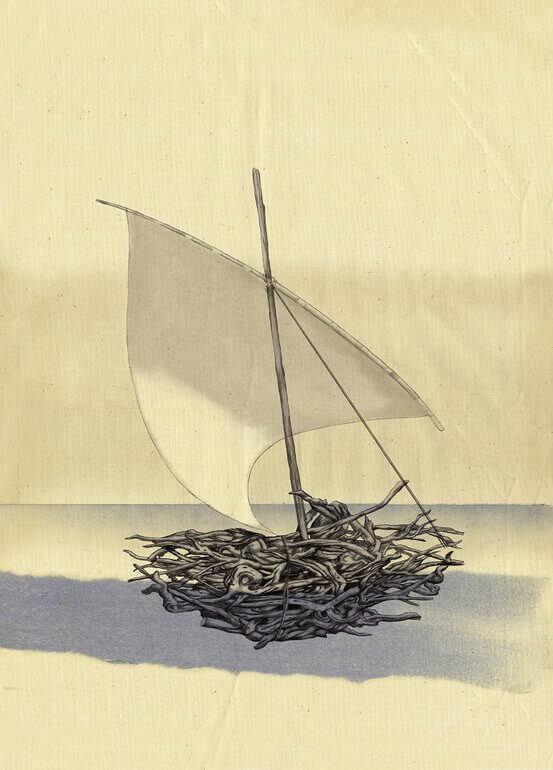 L'illustrazione che fa da copertina al libro Itaca di Kavafis edito da Nordica Libros