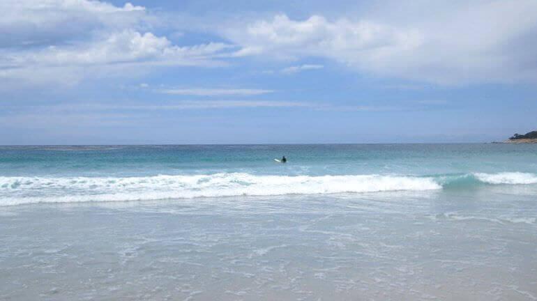 Una spiaggia della California