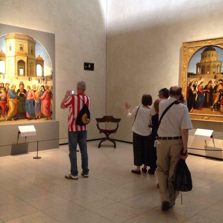 Gli Sposalizi di Perugino e Raffaello in mostra alla Pinacoteca di Brera