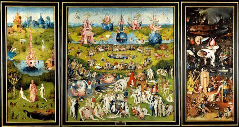 Il trittico Il Giardino delle Delizie di Bosch conservato al Museo del Prado