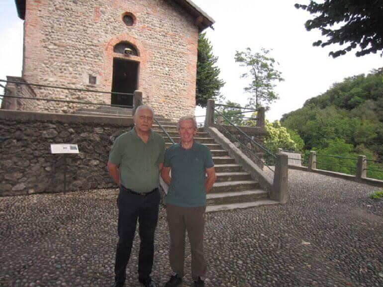 padre Giancarlo Monzani e Fiorenzo Mandelli al Santuario della Rocchetta