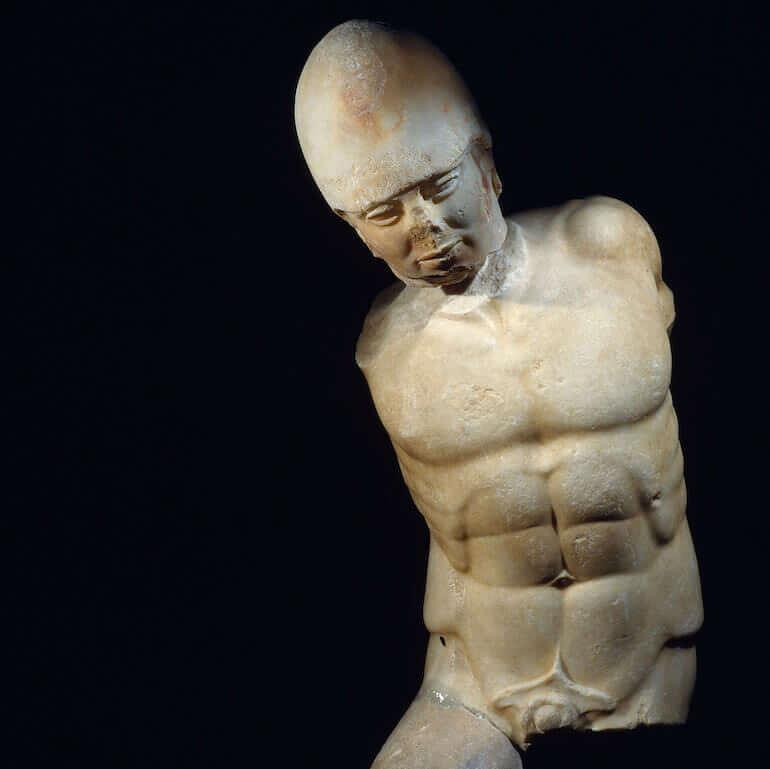 Statua in marmo di guerriero, da Agrigento