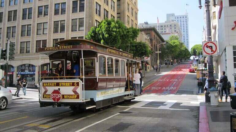 un tram a San Francisco