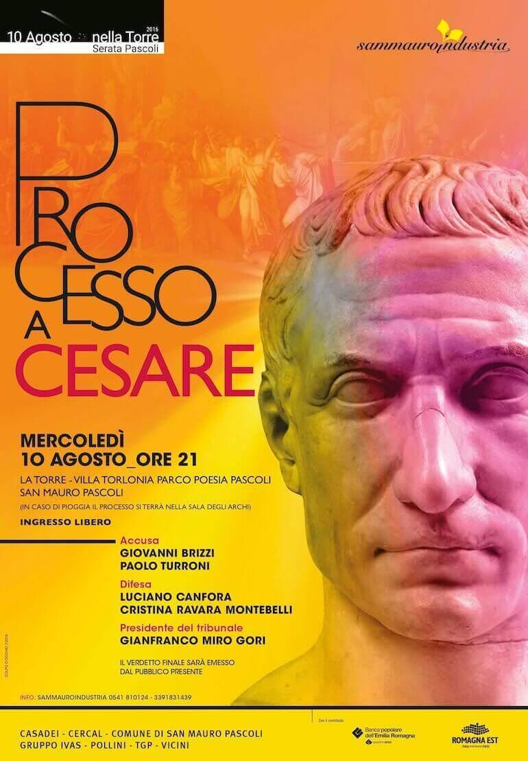 Il manifesto del Processo a Cesare a San Mauro Pascoli