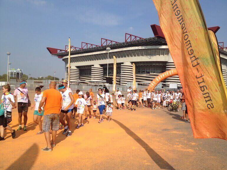 The Color Run 2016 a Milano: tappa arancione