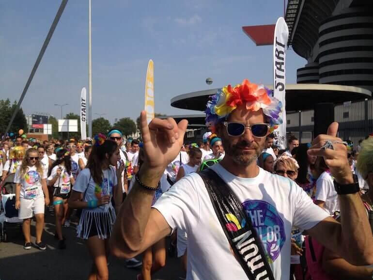 partenza di The Color Run 2016 a Milano