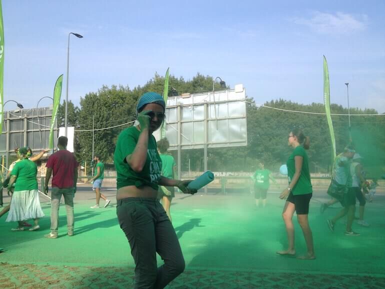The Color Run 2016 a Milano: tappa verde