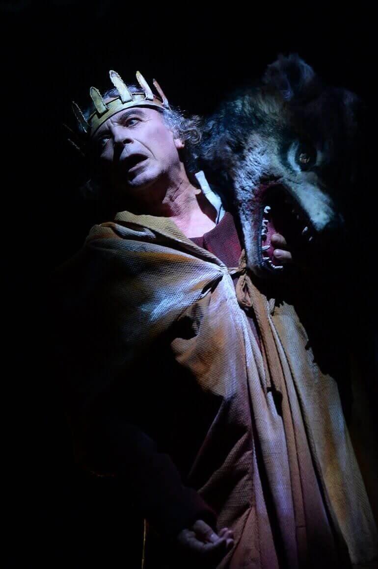 Franco Branciaroli nel ruolo di Macbeth. Foto di Umberto Favretto