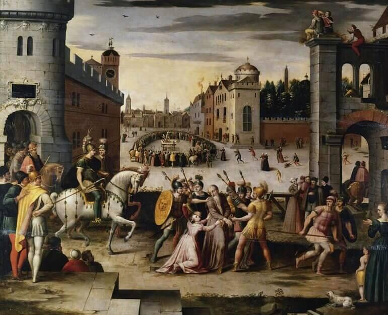 Antoine Caron, Arresto ed esecuzione di Tommaso Moro