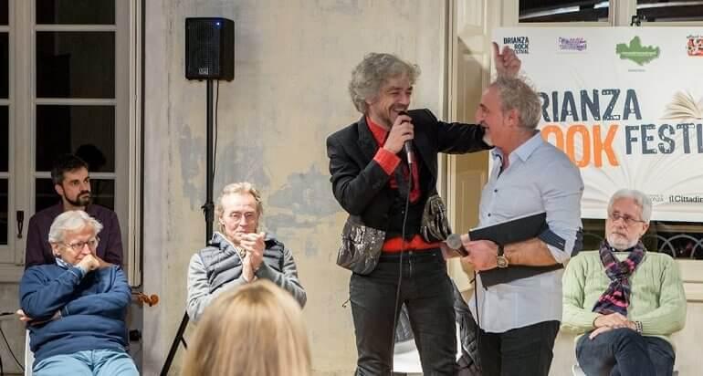 il cantante Morgan con Dario Lessa a Brianza Book Festival