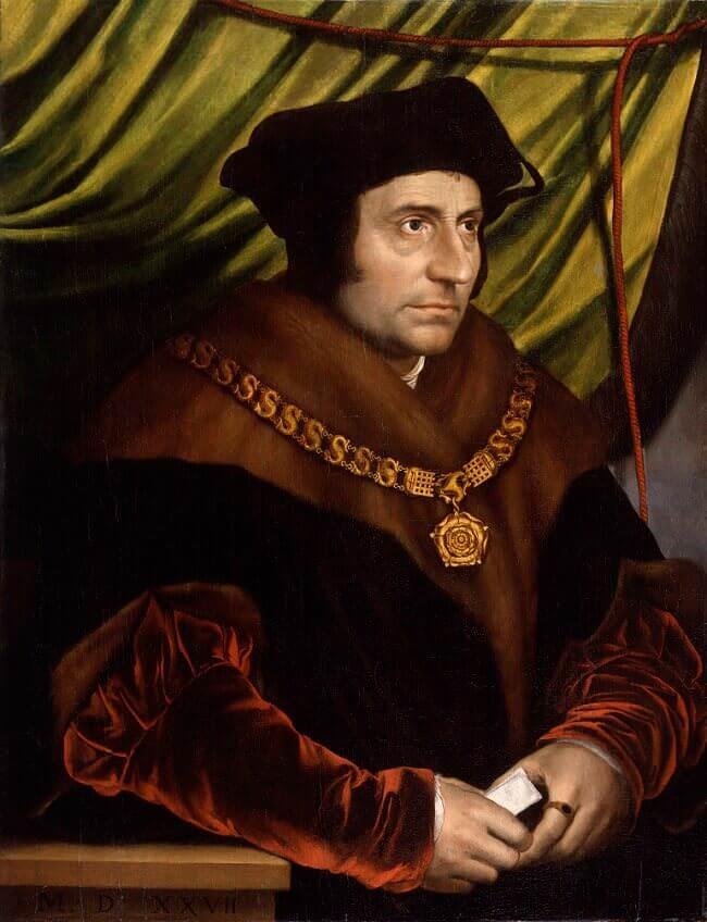 Tommaso Moro in un ritratto copia da Hans Holbein