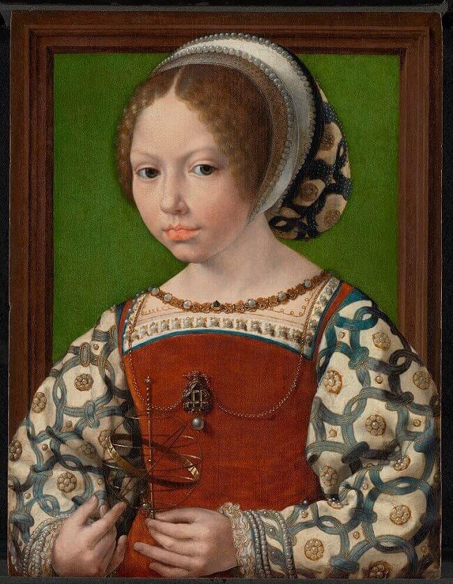 Jan Gossaert, Ritratto di ragazza con sfera armillare