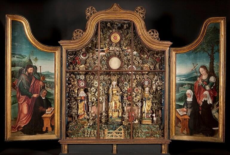 """Una delle pale d'altare di Mechelen esposte alla mostra """"In cerca di Utopia"""" a Lovanio"""