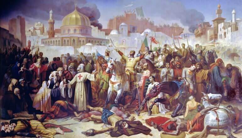 la presa di Gerusalemme nel 1099