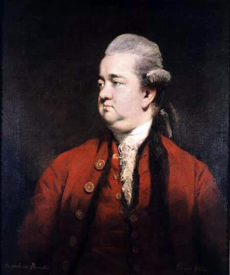 Edward Gibbon ritratto da Joshua Reynolds
