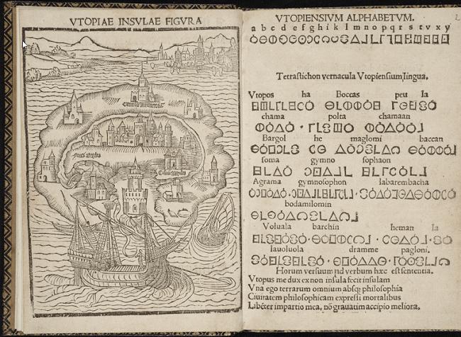 """Un esemplare di """"Utopia"""" di Tommaso Moro"""