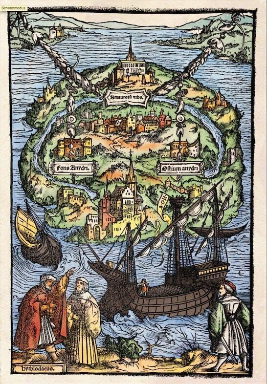 """l'immagine simbolo della mostra """"Utopia & More"""" a Lovanio"""