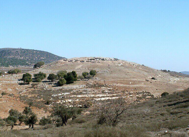 I resti della cittadella di Jotapata (Yodefat)
