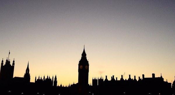 skyline notturno di Londra