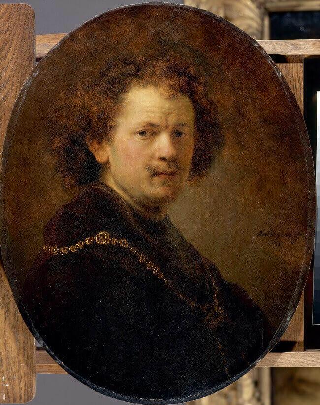 Rembrandt (1606-1669) Autoportrait à la tête nue - 1633 - Huile sur bois - 60 x 47 cm Paris, Musée du Louvre - Département des Peintures, acquis en 1806 © RMN-Grand Palais (musée du Louvre) / Hervé Lewandowski