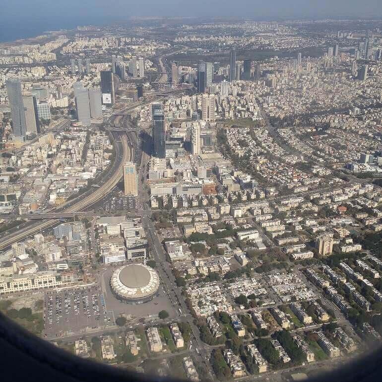 Tel Aviv vista dall'aereo