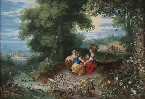 Jan Brueghel il Giovane, Allegoria della terra e dell'acqua
